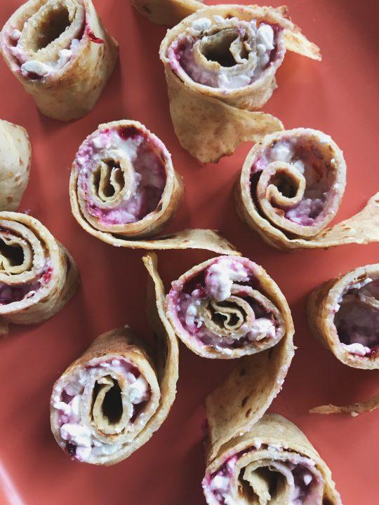 Pannenkoeken met huttenkase, een lekker recept om te eten na het sporten.